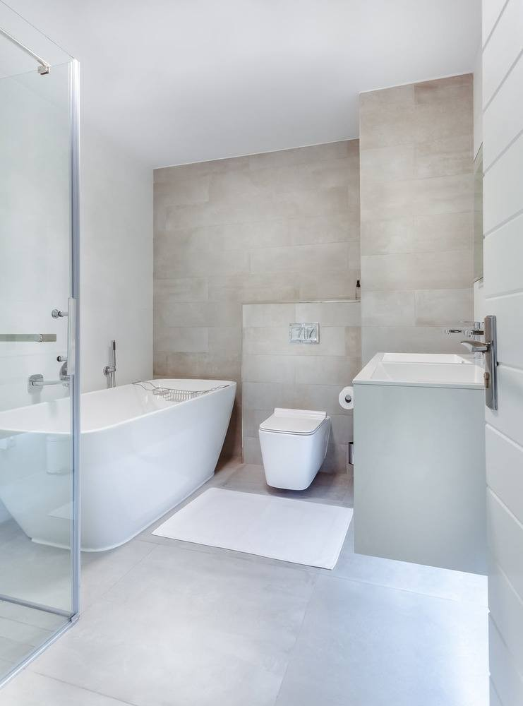 complete bathroom remodel modern design